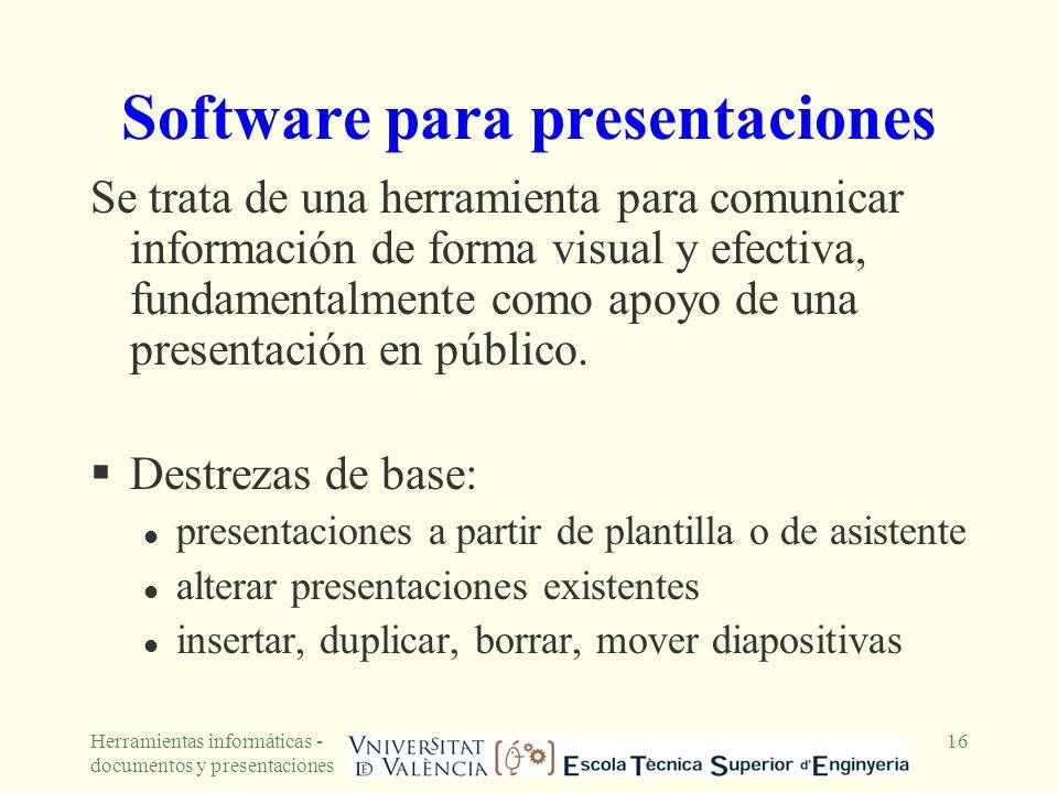 Software para presentaciones