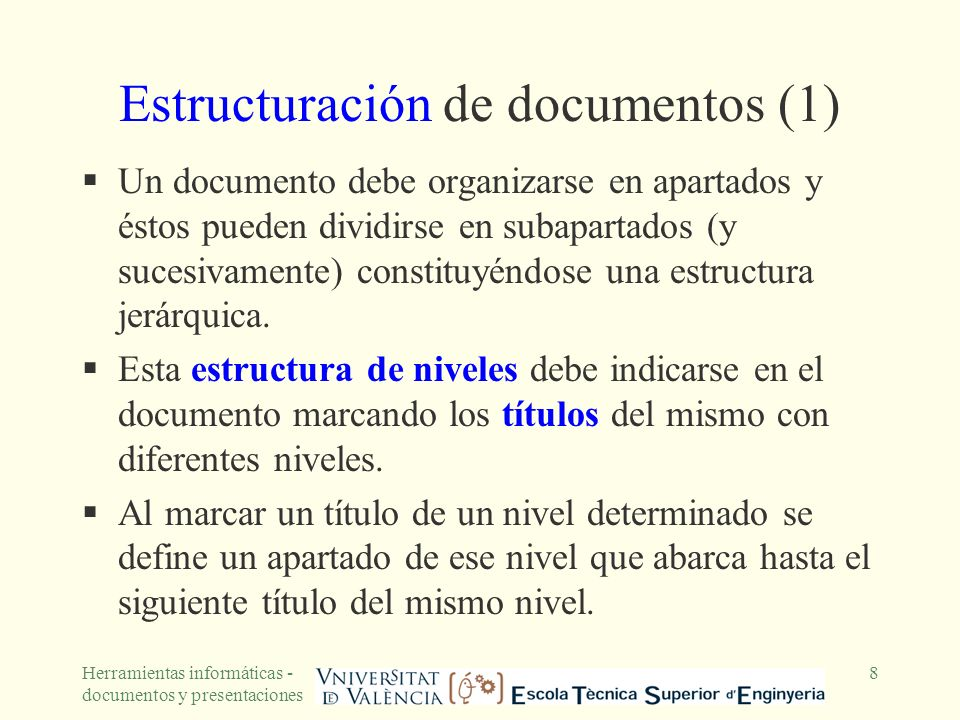 Estructuración de documentos (1)
