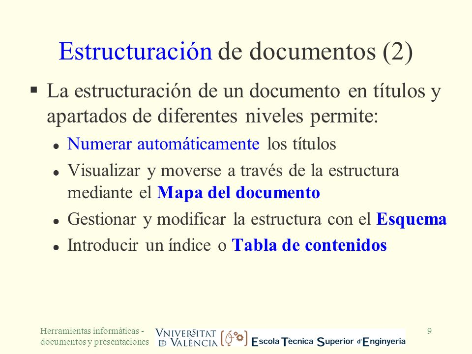 Estructuración de documentos (2)