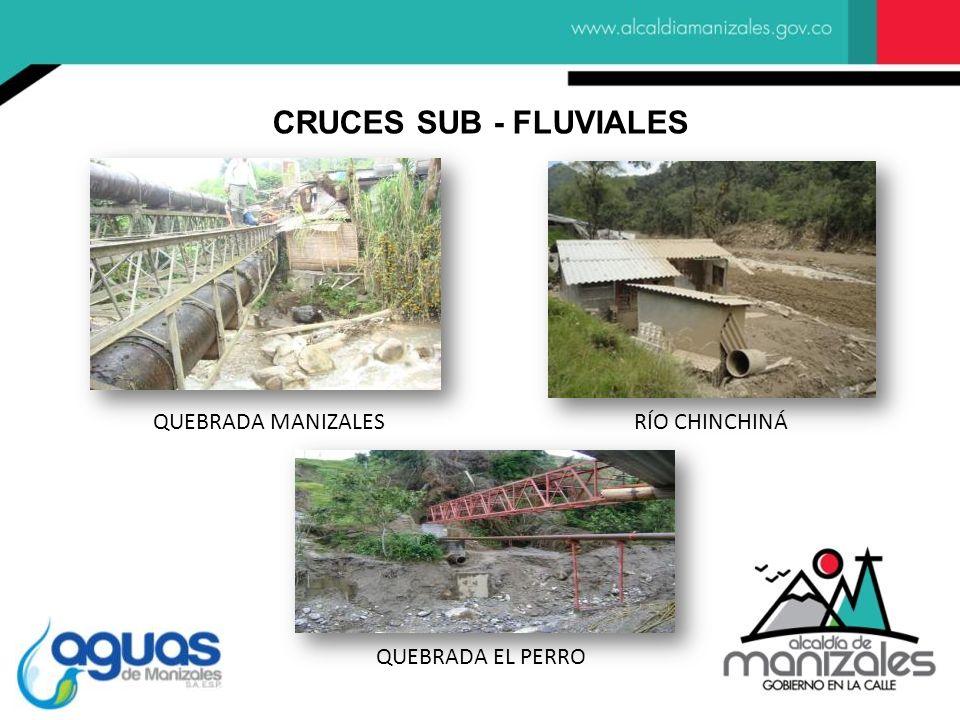 CRUCES SUB - FLUVIALES QUEBRADA MANIZALES RÍO CHINCHINÁ