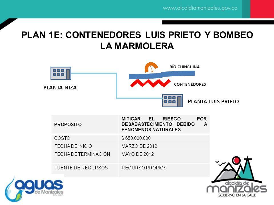 PLAN 1E: CONTENEDORES LUIS PRIETO Y BOMBEO LA MARMOLERA