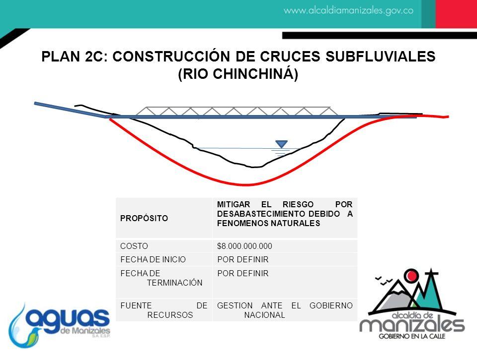 PLAN 2C: CONSTRUCCIÓN DE CRUCES SUBFLUVIALES
