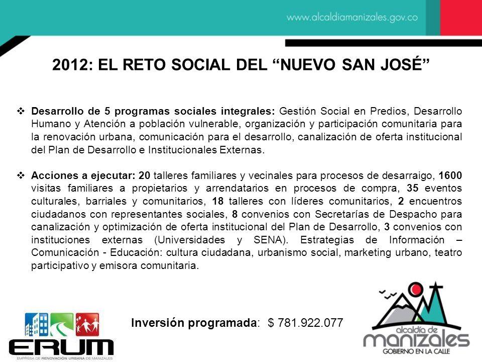 2012: EL RETO SOCIAL DEL NUEVO SAN JOSÉ