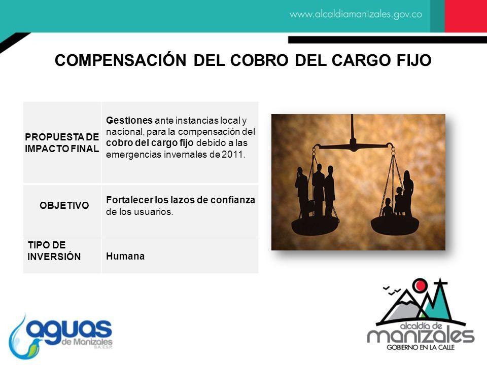 COMPENSACIÓN DEL COBRO DEL CARGO FIJO PROPUESTA DE IMPACTO FINAL