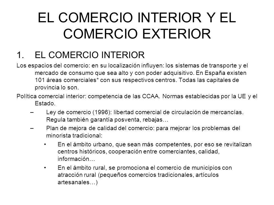 EL COMERCIO INTERIOR Y EL COMERCIO EXTERIOR