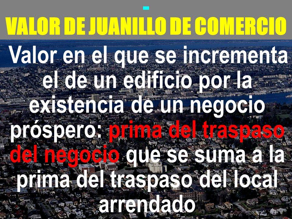 VALOR DE JUANILLO DE COMERCIO