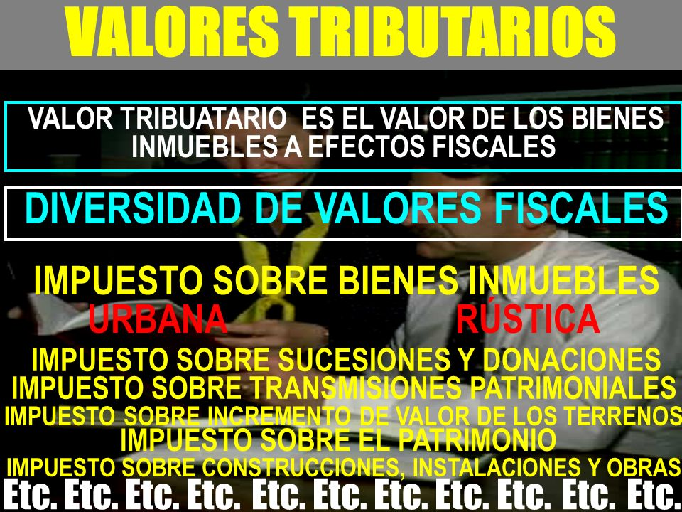 VALORES TRIBUTARIOS URBANA RÚSTICA DIVERSIDAD DE VALORES FISCALES