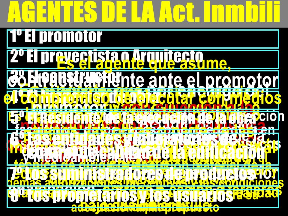 AGENTES DE LA Act. Inmbili