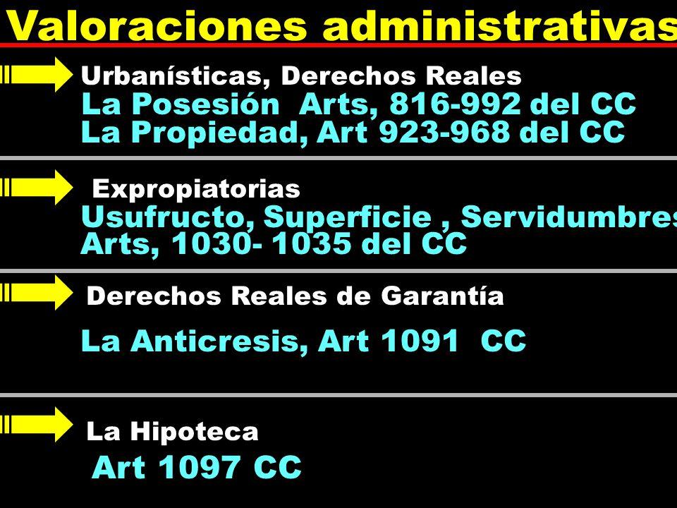 Valoraciones administrativas