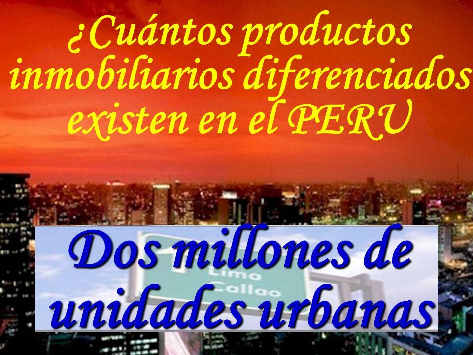 ¿Cuántos productos inmobiliarios diferenciados existen en el PERU