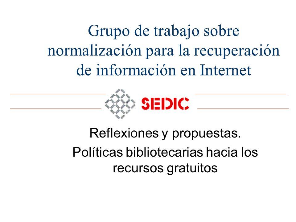 Grupo de trabajo sobre normalización para la recuperación de información en Internet
