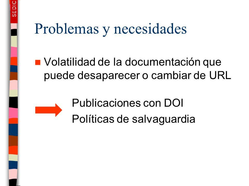 Problemas y necesidades