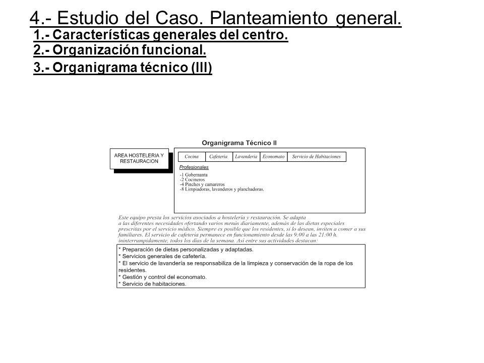 4.- Estudio del Caso. Planteamiento general.
