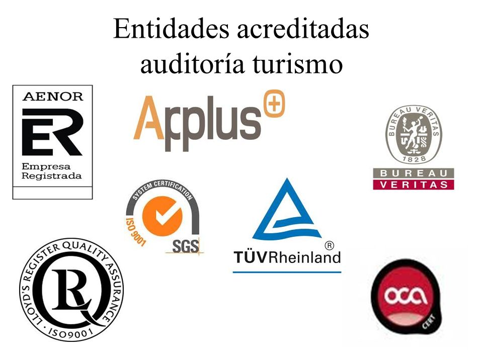 Entidades acreditadas auditoría turismo