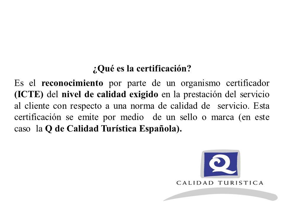 ¿Qué es la certificación