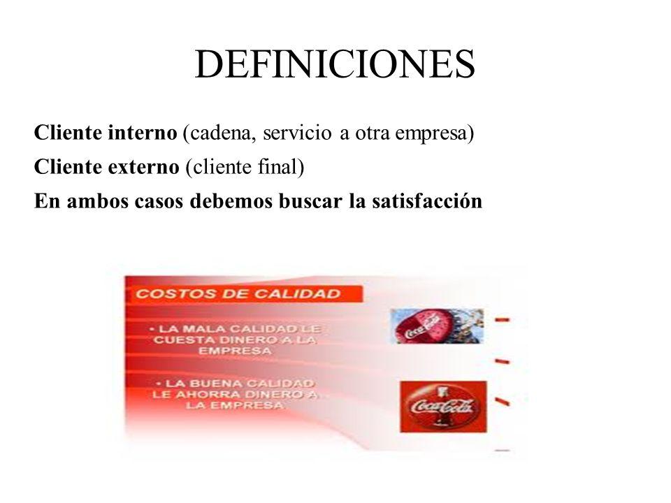 DEFINICIONES Cliente interno (cadena, servicio a otra empresa)