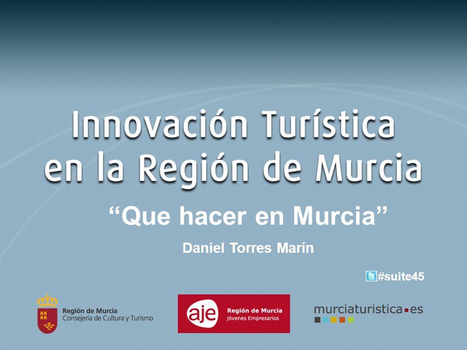 Que hacer en Murcia Daniel Torres Marín #suite45