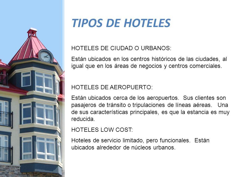 TIPOS DE HOTELES HOTELES DE CIUDAD O URBANOS: