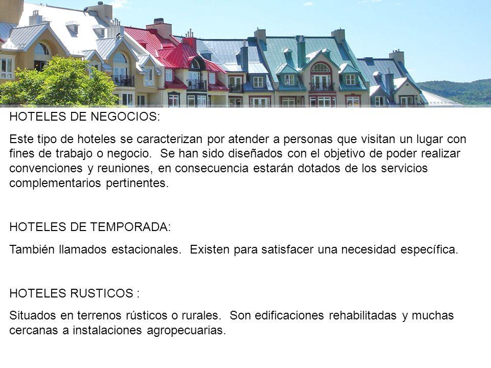 HOTELES DE NEGOCIOS:
