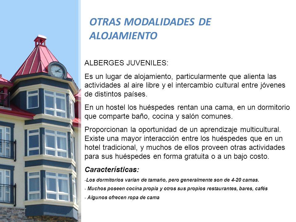 OTRAS MODALIDADES DE ALOJAMIENTO