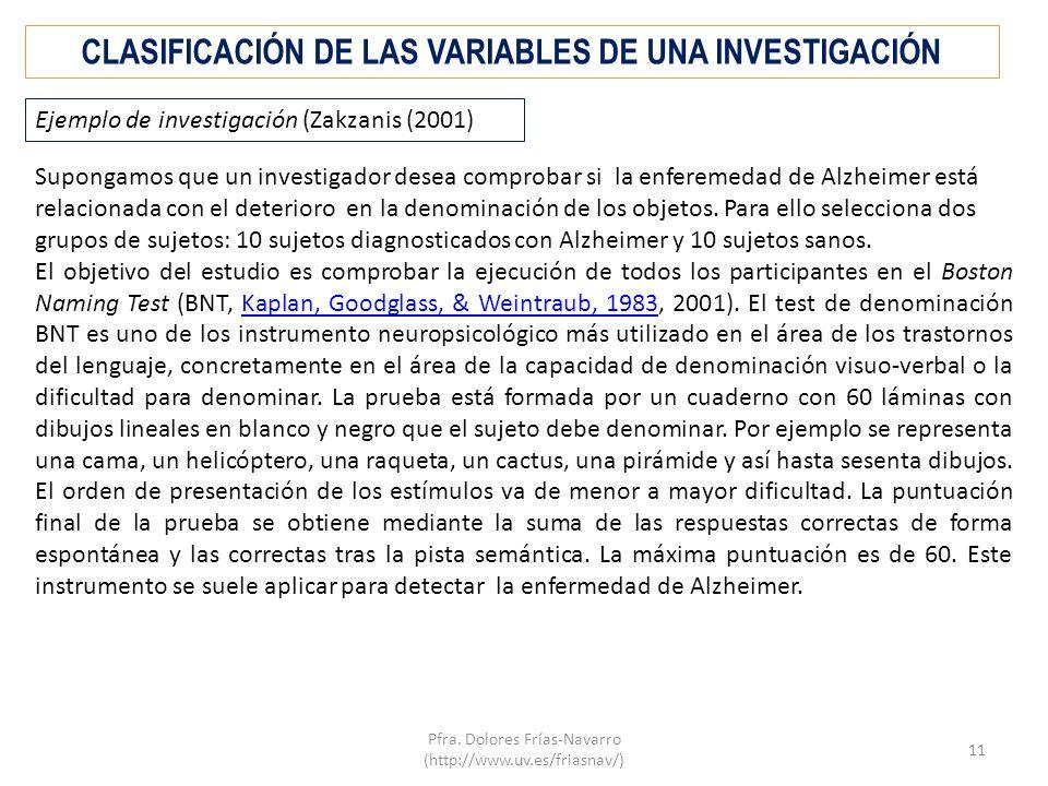 CLASIFICACIÓN DE LAS VARIABLES DE UNA INVESTIGACIÓN