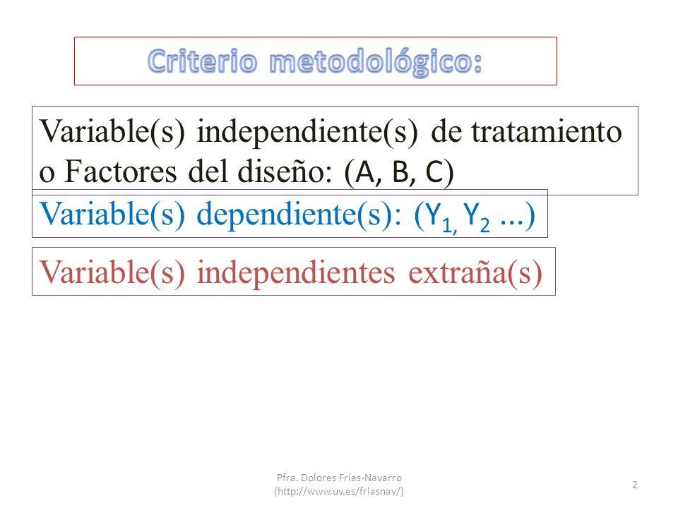 Criterio metodológico: