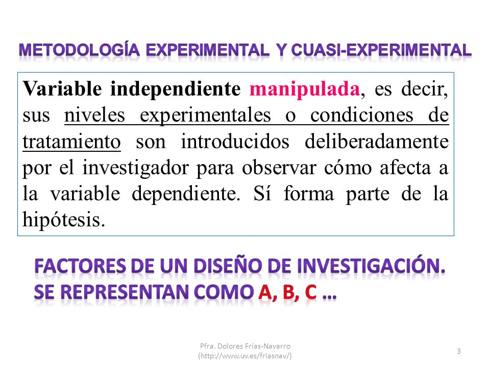 Metodología experimental y cuasi-experimental