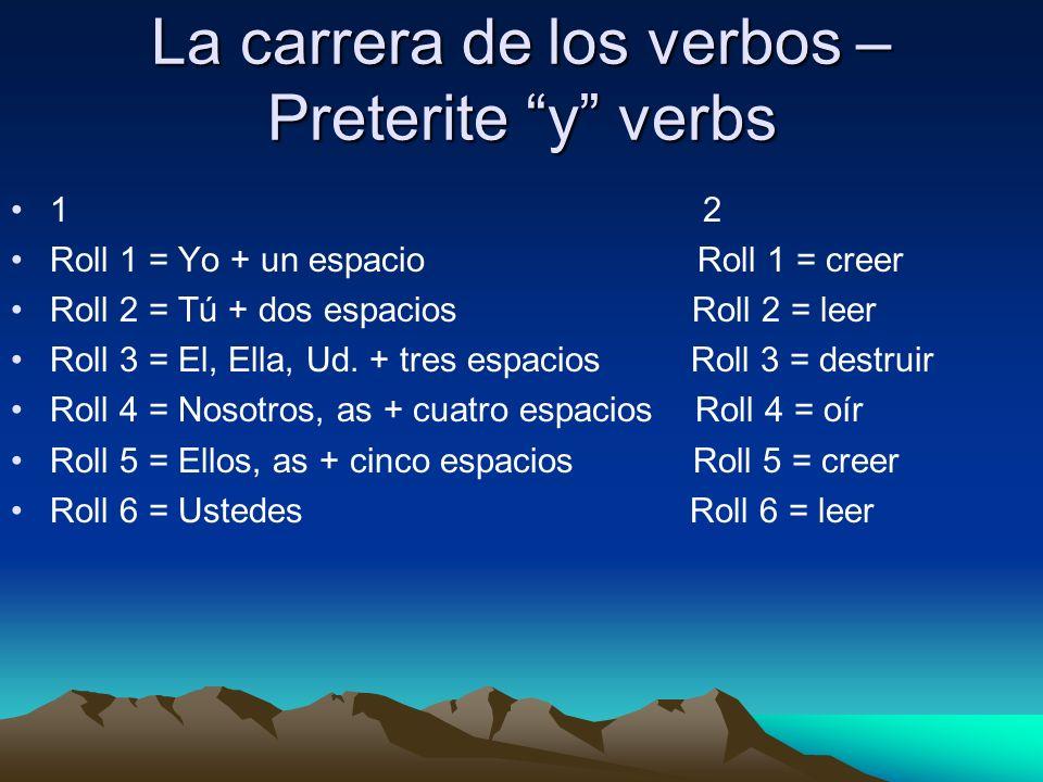 La carrera de los verbos – Preterite y verbs