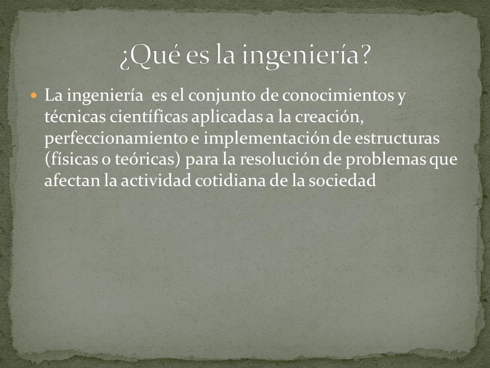 ¿Qué es la ingeniería