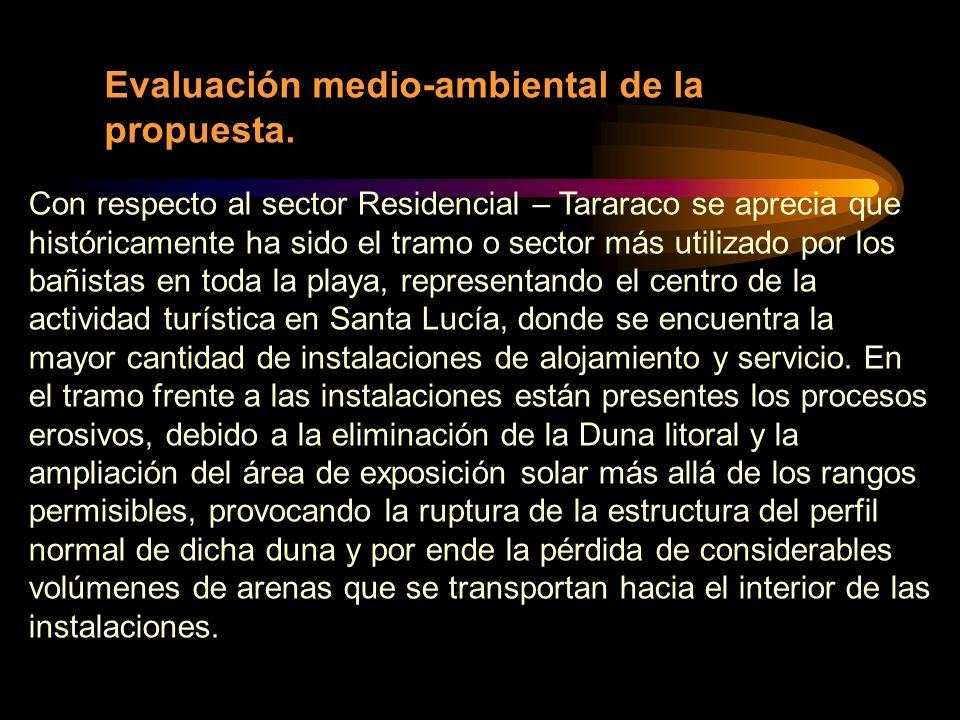 Evaluación medio-ambiental de la propuesta.