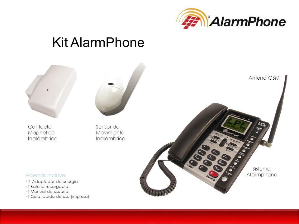 Kit AlarmPhone Contacto Magnético Inalámbrico Sensor de Movimiento