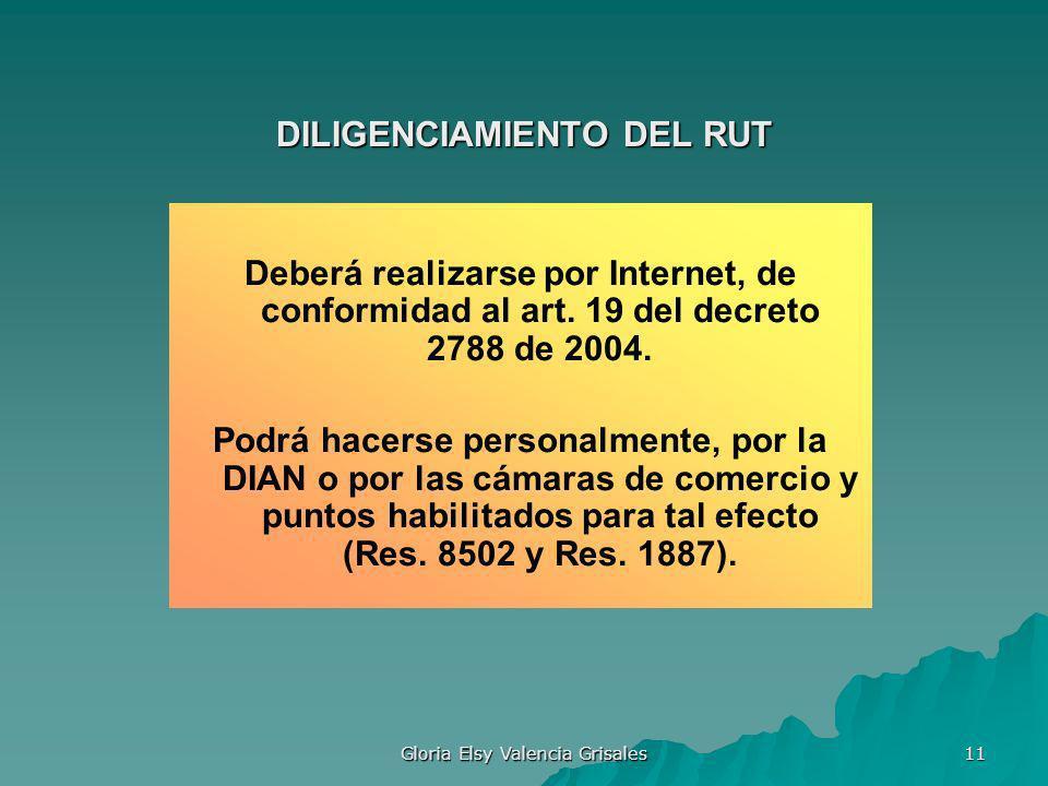 DILIGENCIAMIENTO DEL RUT