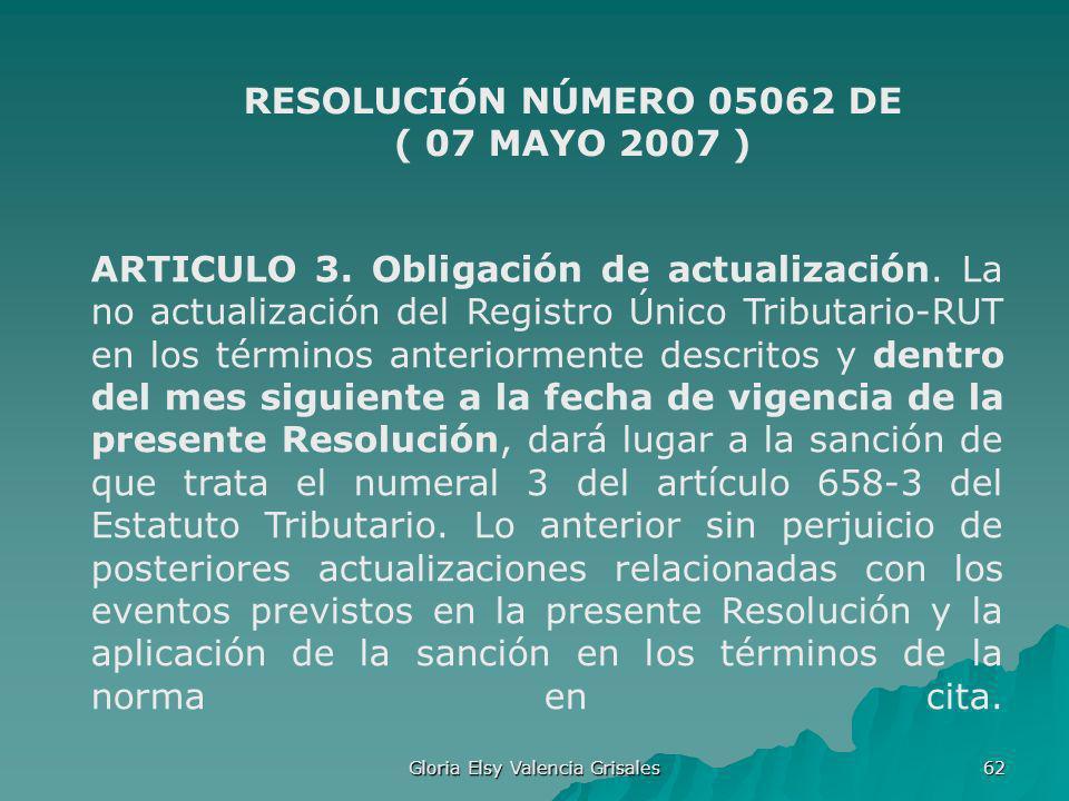 RESOLUCIÓN NÚMERO 05062 DE ( 07 MAYO 2007 )
