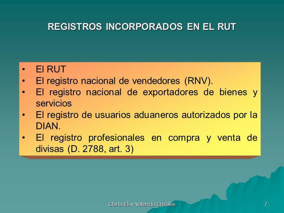 REGISTROS INCORPORADOS EN EL RUT
