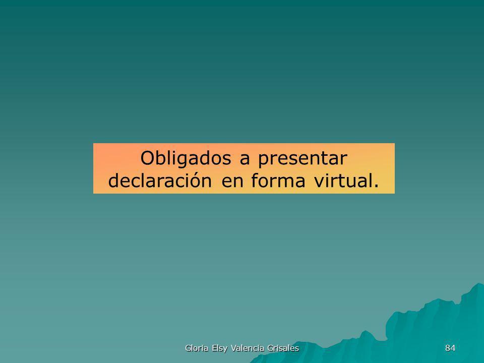 Obligados a presentar declaración en forma virtual.