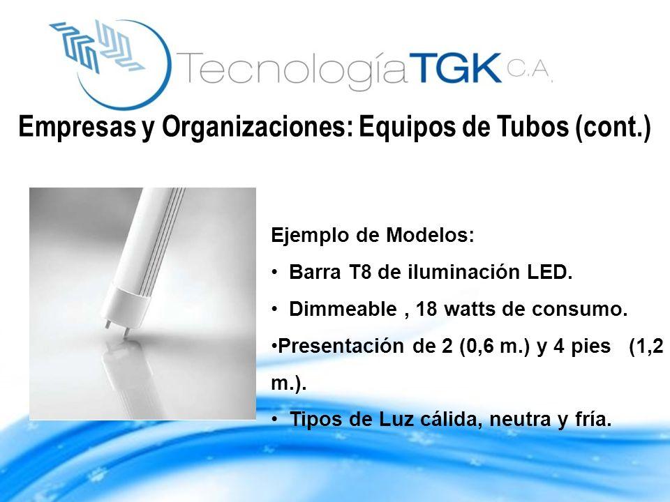Empresas y Organizaciones: Equipos de Tubos (cont.)