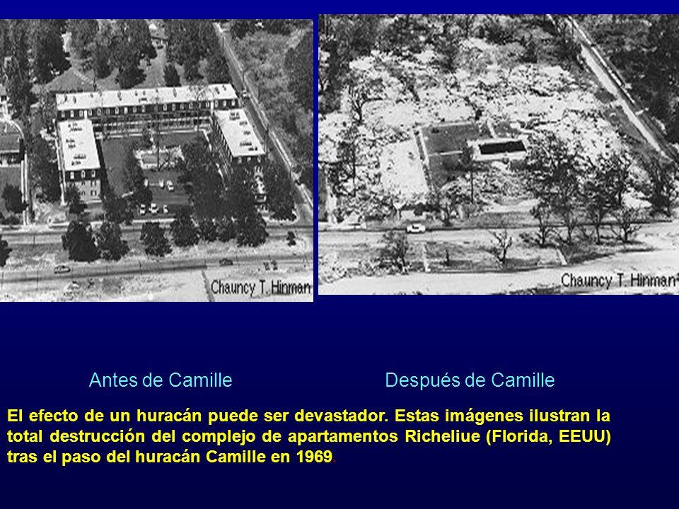 Antes de Camille Después de Camille.