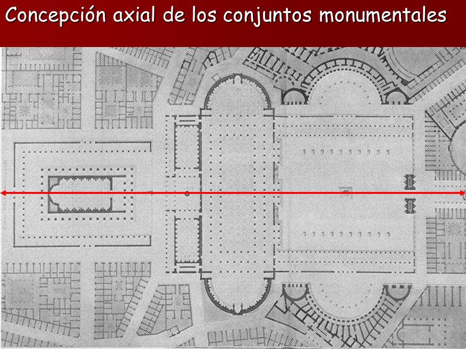 Concepción axial de los conjuntos monumentales