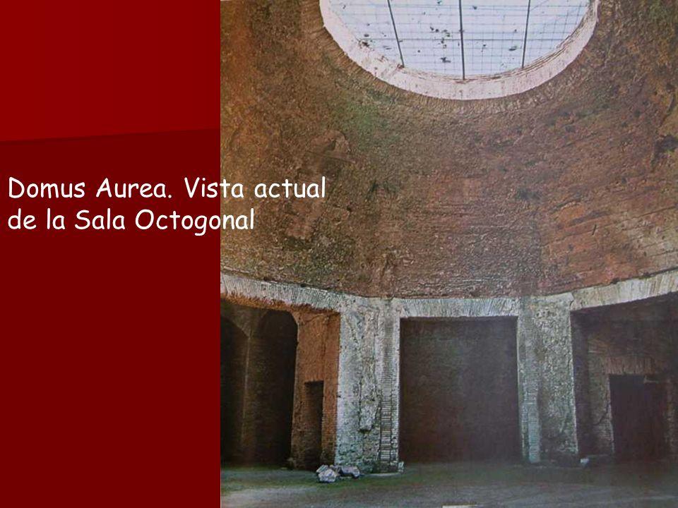 Domus Aurea. Vista actual de la Sala Octogonal