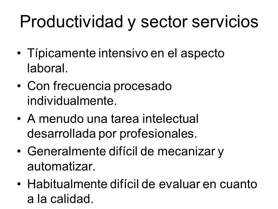Productividad y sector servicios
