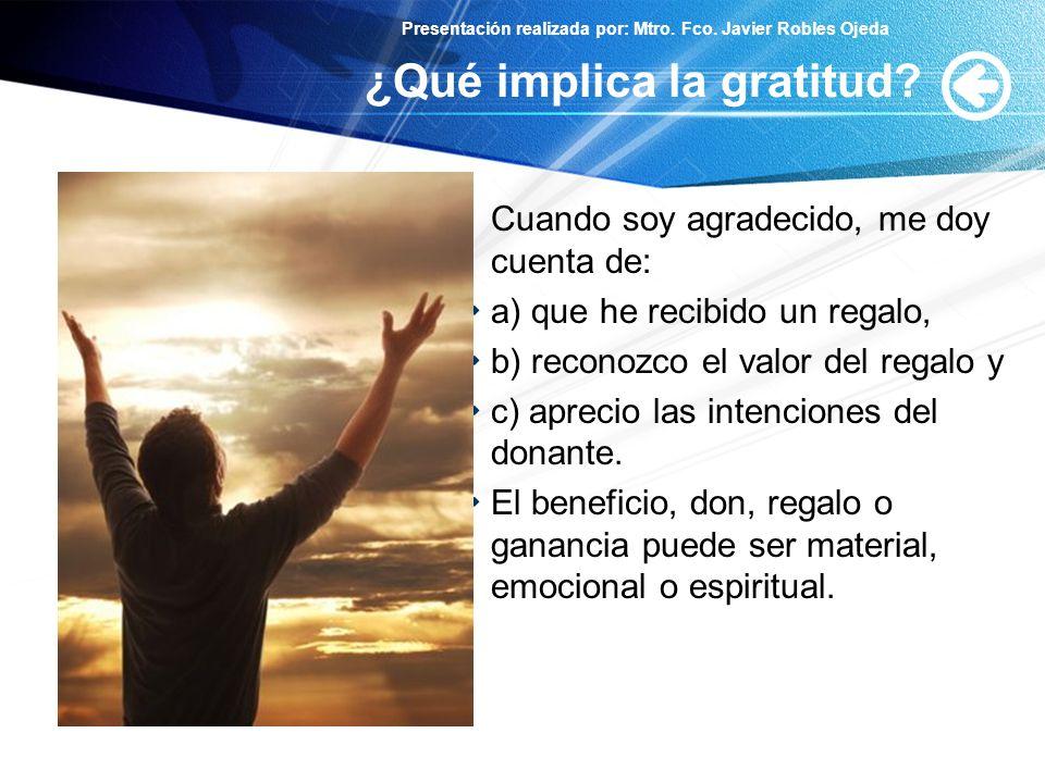¿Qué implica la gratitud