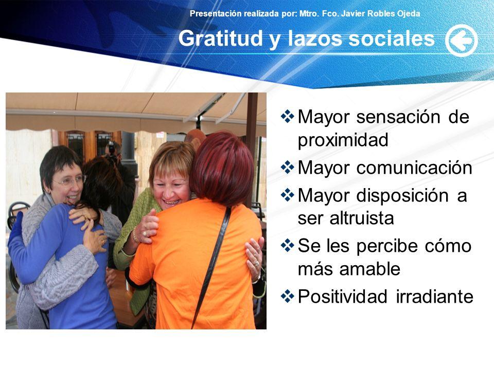 Gratitud y lazos sociales