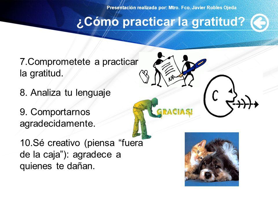 ¿Cómo practicar la gratitud