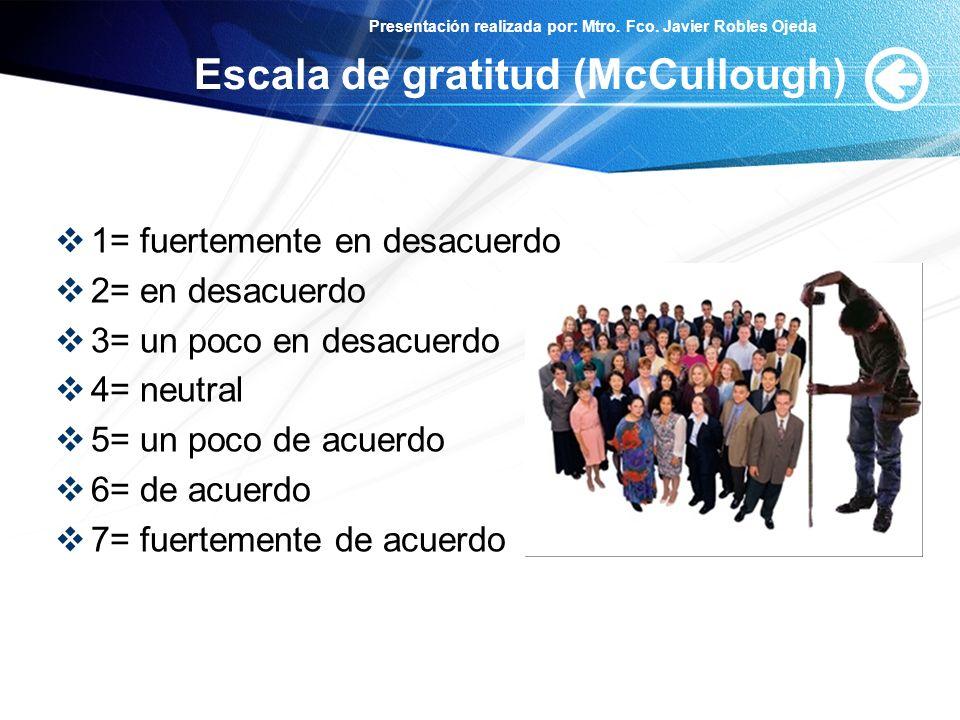 Escala de gratitud (McCullough)