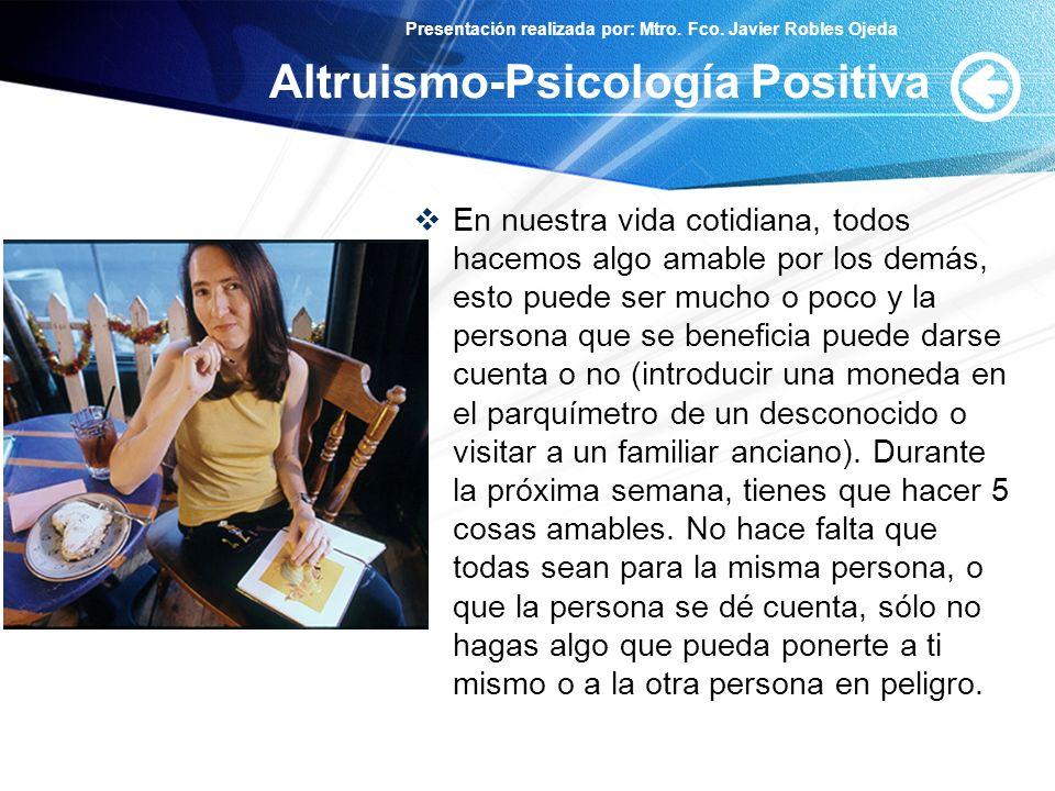 Altruismo-Psicología Positiva