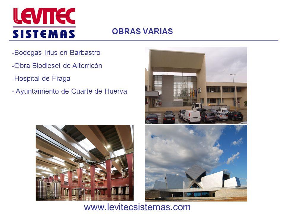 www.levitecsistemas.com OBRAS VARIAS Bodegas Irius en Barbastro