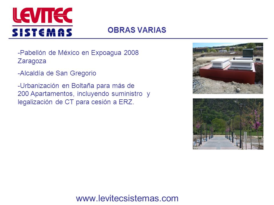 www.levitecsistemas.com OBRAS VARIAS