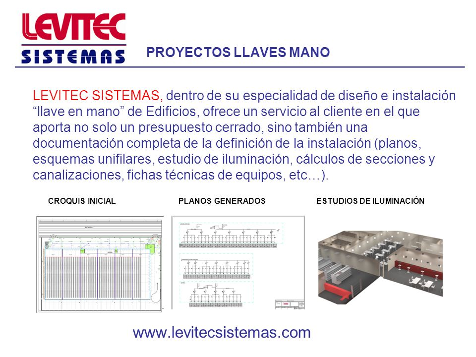 www.levitecsistemas.com PROYECTOS LLAVES MANO