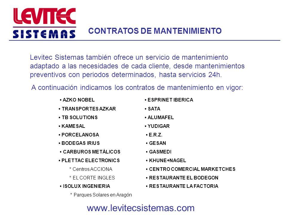 www.levitecsistemas.com CONTRATOS DE MANTENIMIENTO