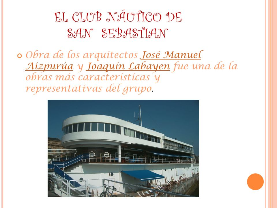 EL CLUB NÁUTICO DE SAN SEBASTIAN
